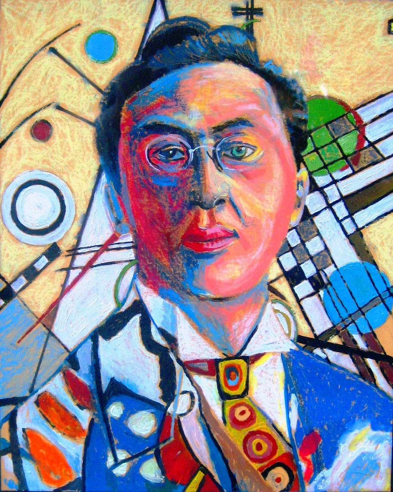 Kandinsky upright oil pastels