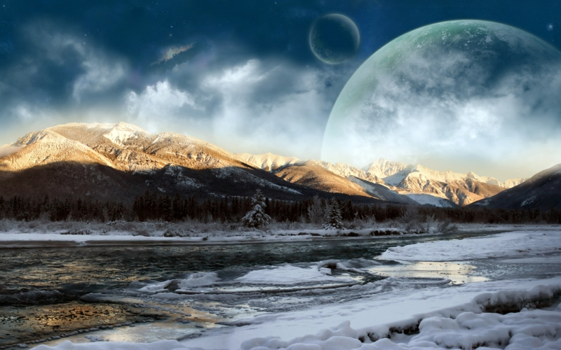ice mountains snow outer space planets science fiction 1680x1050 wallpaper_www.wallpaperhi.com_67